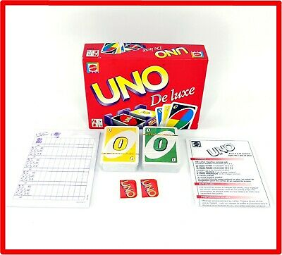 Original Uno Deluxe Card Game Cards New & Sealed Content - French Instruction