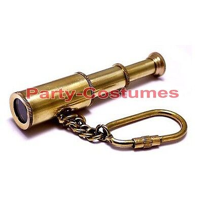 BRASS KEY CHAIN TELESCOPE NAUTICAL PROP GIFT LOT OF 50 UNITS VINTAGE GIFTS