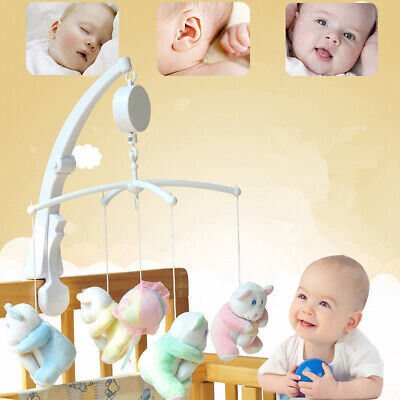 Baby Crib Bed Hanging Bell Wind-up Rotating Music Box Kids Develop Toy Gift Beam
