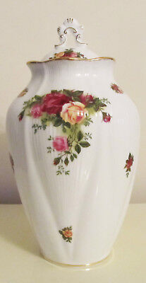 NWOB Collectable Royal Doulton Old Country Roses Covered Cookie Jar, Vase, Urn