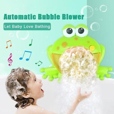 Kid Baby Bubble Tub Frog Automatic Shower Machine Blower Maker Bath Music Toy CA