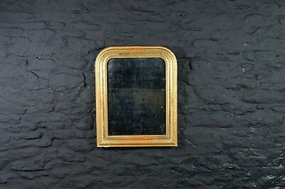 19th Century Decorative Arch Topped French Wall Mirror ~ Heavily Foxed Plate
