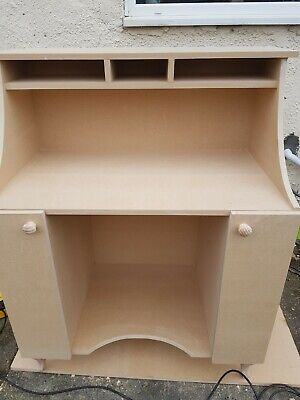 Shabby chic mdf Reception desk with cupboards