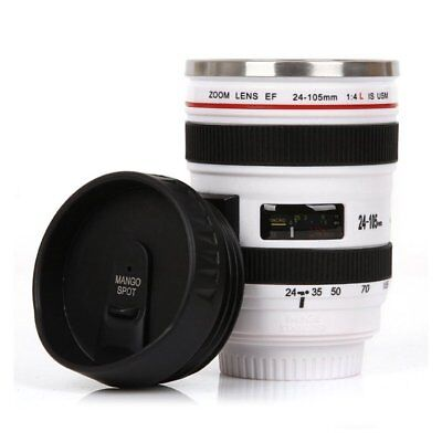 Best Camera Lens Thermos Stainless Steel Cup/ Mug for Coffee or Tea White U1W8