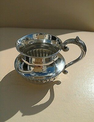 Antique A1 Silver Plated Cream Jug Maker Potter