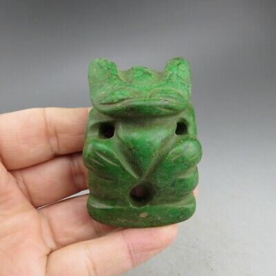 Chinese jade,collectibles,turquoise,Hongshan culture,Apollo,pendant E5783