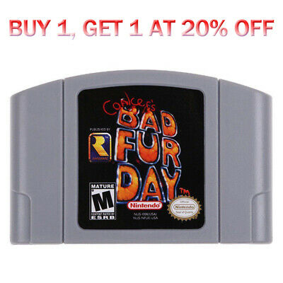 Conker's Bad Fur Day Game for Nintendio 64 N64 System Console Card Cartridge US