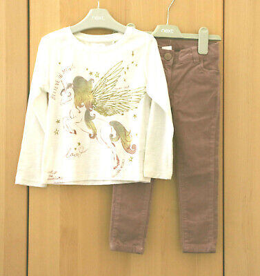 NEXT Girls Dusty Pink Fine Cord Trousers Jeans Age 3 Years BNWT