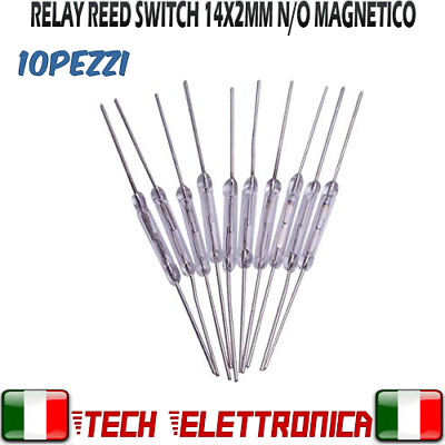10 Relè reed switch contatto magnetico NA relay reed NO effetto hall arduino