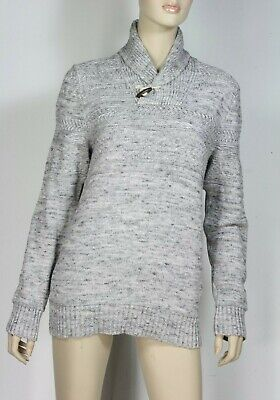L O G G Grey Chunky Cotton Jumper Size S