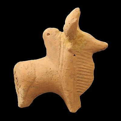 Aphrodite- Ancient Terracotta Figure Of A Humped Bull