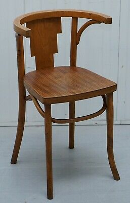 Cool Vintage Bentwood Bow Back Side Occasional Office Desk Small Neat Armchair