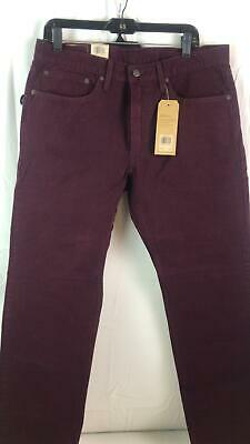 3d053c69dd51c4 Levi's Men's 502 Regular Taper Fit Pant Mulled Wine warp Stretch size 34W  ...