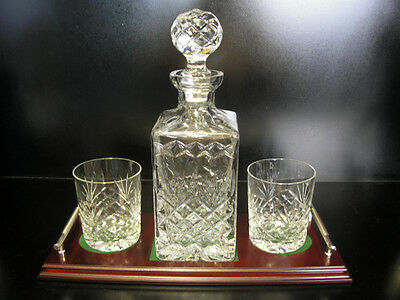 Crystal Whisky Decanter - Irish Hand Cut Crystal - Gift Set