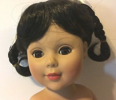 "NEW "" KELLY "" BELL EXCELLENT Vintage Doll Wig(14-15"") BLACK -FREE Ship US"