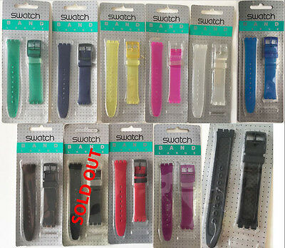 SWATCH BAND STRAPs - VINTAGE SKIN MODELS 90'S 16MM - BLISTER PACKAGE #007