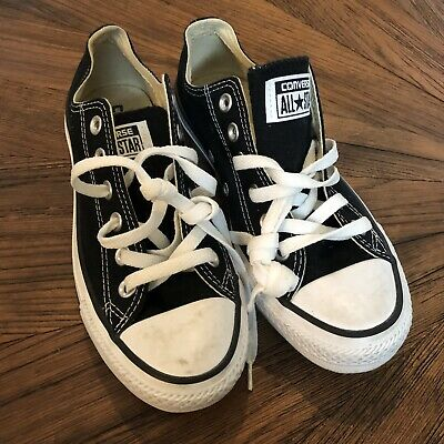 Converse Size 6.5 Women's Black Lo Top Classic All Star Sneakers Skate Mens 4.5