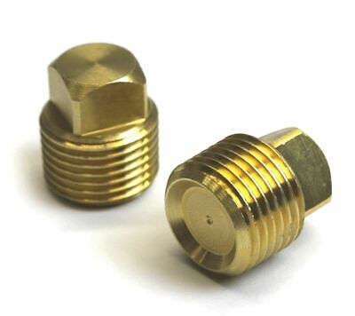 2 Pack Solid Brass Boat Hull Spare Garboard Drain Plug 1/2'' NPT  70824
