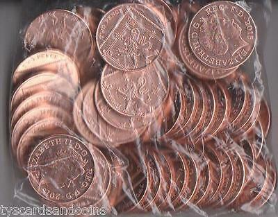 NEW MINT CONDITION 2015 SHIELD OF ROYAL ARMS UNCIRCULATED BAG OF 50X 2p COINS