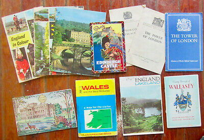 Lot of 11 Travel Booklets and Brochures related to the United Kingdom