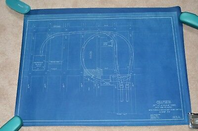 "EXTREMELY RARE MANHATTAN NYC 38TH STREET TUNNEL BLUEPRINT 1930 24.5"" X 32.5"" in"
