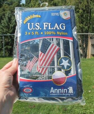 ANNIN 3X5 ft. 100% NYLON US FLAG - NEW IN SEALED PACKAGE