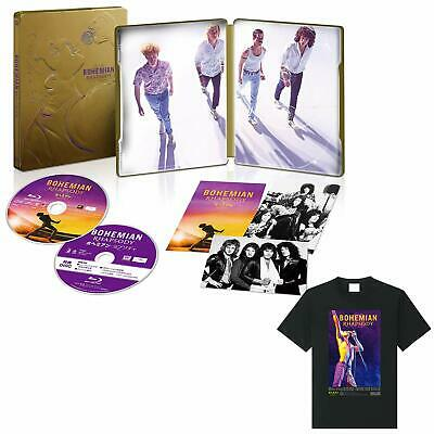 Bohemian Rhapsody Blu-ray with Steel book bonus video disc & Original T-shirt