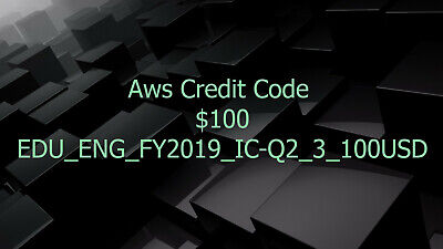 Aws Credit $100 Aws PromoCode Q2_3 RDS Aws Credits EC2 Aws Codes SQS New Event