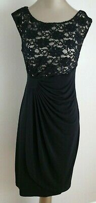 3cc1b4395849 Dress Barn Collection Black Sequin Sleeveless Evening Cocktail Dress size  10P