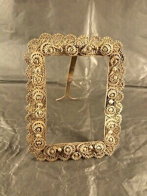 Antique Ottoman Greek Silver Filigree Picture Frame