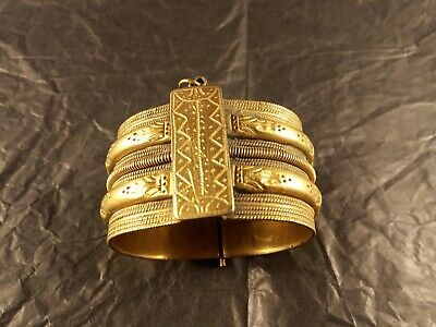 antique silver gilt bracelet cuff ottoman bulgarian greek 19th