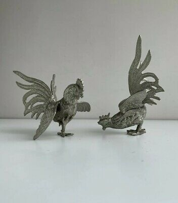 A Pair of Vintage Decorative Cockerels Roosters - Figurative Bird