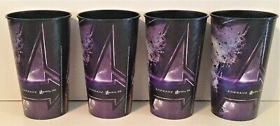 Avengers Endgame Movie Theater Exclusive Four 44 oz Plastic Cups
