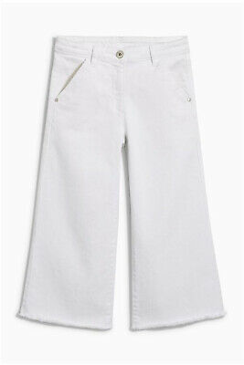NEXT Girls White Cropped Flare Jeans Age 10 Years BNWT