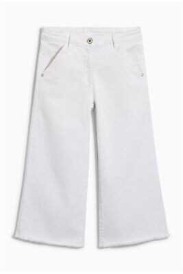 NEXT Girls White Cropped Flare Jeans Age 14 Years BNWT