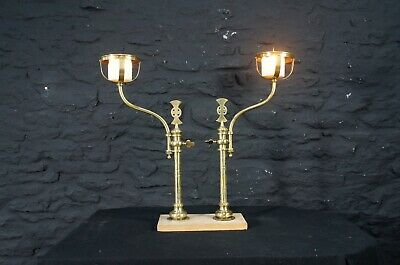 Antique Adjustable Ecclesiastical Church Candle Stands ~ Fireplace Wall Lights