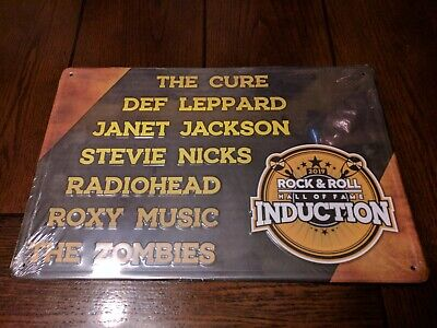 2019 Rock And Roll Hall of Fame Induction Ceremony VIP Tin Sign Metal NEW Promo