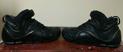 97a46a8b3d3 Nike ZOOM LEBRON IV 4 BLACK OUT ANTHRACITE GREY SILVER 314647-001 sz 9.5