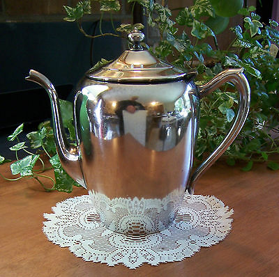 Vtg FB Roger Silverplate Silver Plate Tea Coffee Pot Pitcher Server 4-Cup 7-1/2""