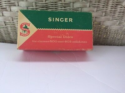 Vintage Box of 16 Singer Special Discs for 600 and 603 Machines   D1