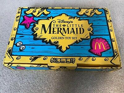 McDonald's Happy Meal Disney's The Little Mermaid Golden Toy Set Boxed 8 Toys