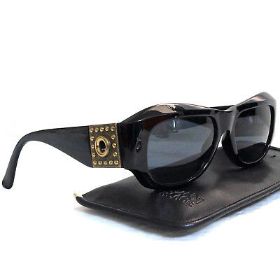 783bff5991c Authentic Gianni Versace Black Sunglasses Mod 395 Col 852 BK Made Italy in  Case