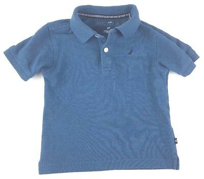 Boys Youth Nautica Blue  Polo Shirt Size 4T Toddler