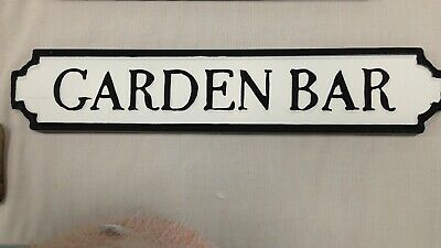 GARDEN BAR- SHE SHED Vintage Retro Road Street Sign Metal Tin Wall Art Plaque