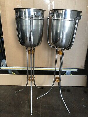 3 Champagne Buckets & Stands