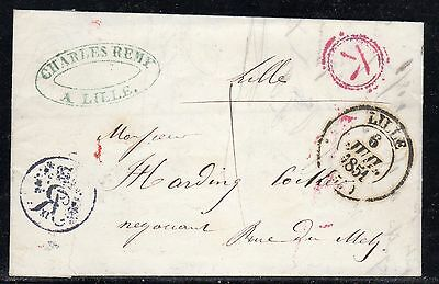 France Stampless Lille 1851 b85