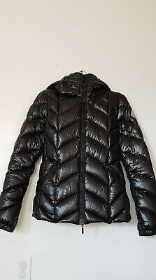eb4c2ffa6 MONCLER WOMEN'S BADETE Hooded Down Puffer Coat Size 0 (XS) Black