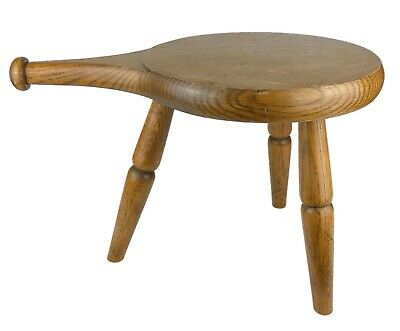 -1987 Amana Furniture, Usa- Modern Designer Oak Milking Joint Stool Chair Signed