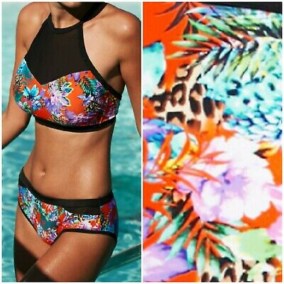 24aa849f44 Figleaves Sz 38D Top & 18 Bottom Sunset Beach Padded Halter Bikini Set @  Next
