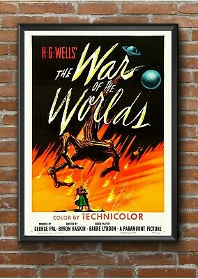 "Vintage ""War of the Worlds"" Sci Fi Movie Film Poster Print Picture A3 A4 A5 #1"